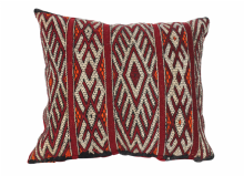 "Moroccan Cushion Vintage Kilim Stuffed  Wool  48 cm x 40 cm / 19"" x 16"" (VC314)"